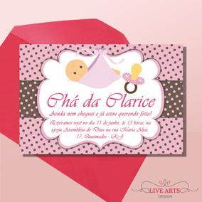 Convite Cha De Bebe Cegonha Convites No Mercado Livre Brasil
