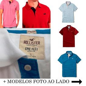 Camisa Hollister Bordada - Calçados, Roupas e Bolsas no Mercado ... 86b4ebd1ef