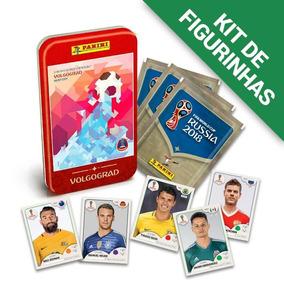 Kit De Figurinhas Copa Do Mundo Rússia 2018 + Lata Volgograd
