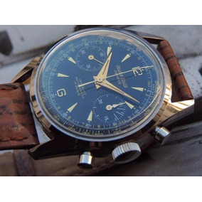 Magnífico Cronógrafo Leuba Louis Mint Relógio Antigo Pilot