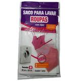 Sacola P/ Lavar Roupas Zíper 40x50cm Lavadora Liquida Geral
