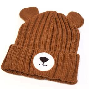 Touca Infantil Inverno Urso Gorro Bebê Lã Enxoval Rn 0f31b509a25