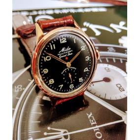 Relógio Mido Grand Luxe Estrela Vermelha Aro Ouro Sólido 18k