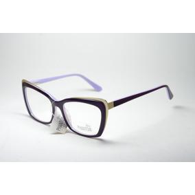 7bc26e161aca9 Armação Óculos P  Grau Feminino Moda Retro Anos 80 Acetato