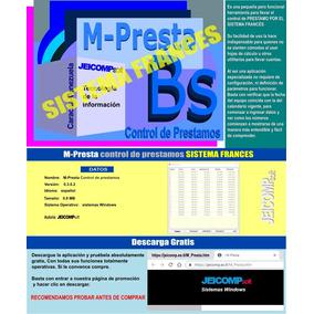 Control De Prestamos (sistema Francés)