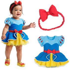 Roupa De Bebe Menina Vestido Branca De Neve Disney Original