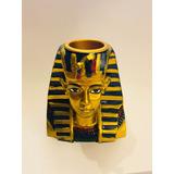 Candelabro Egipto Resina Tutankamon 7 Cm Faraon Egipcio