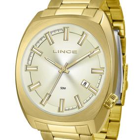 521a136fd26 Relógio Lince Grande Mrg4584s C1kx Masculino Quadrado + Nf