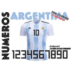 Numero Camiseta Argentina Para Estampar Mundial Rusia Sublim fe2f28666d92c