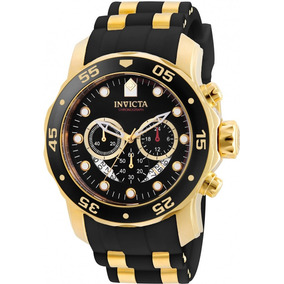 Relógio Invicta Pro Diver 6981 Masculino Preto Original Ouro
