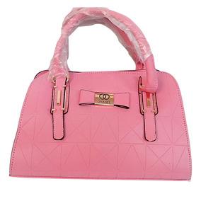 Bolsa Feminina Couro Importada Rosa Peça N° 65 F. Gratis
