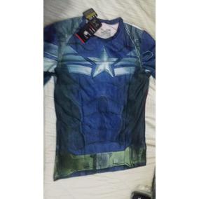 Playeras Under Armour Capitán America E Iron Man Alter Ego