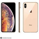Iphone Xs Max Dourado Tela De 6,5 4g 64gb 12mp Mt522bz/a