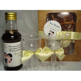 10mini Vinhos Personalizados+caixinha+ 2 Taça+decoração+tags