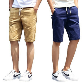 Bermuda Colorida Jeans Sarja Masculina Outlet Ref 106