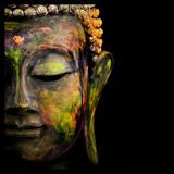 Cuadros Buda Black Decorativo Impreso Canvas- Calidad Museo