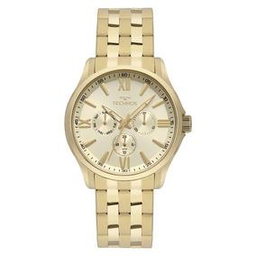Relogio Technos Executive Quadrado Dourado - Relógio Masculino no ... 368bacfccc