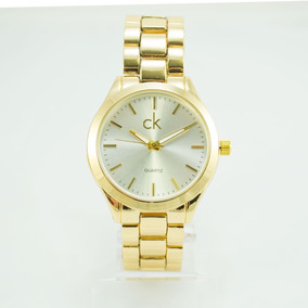 9504ecfcfb2 Relogio Feminino Dourado Ck - Relógio Feminino no Mercado Livre Brasil