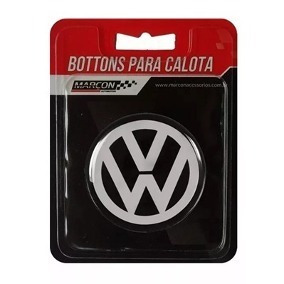 Emblema Calota Volkswagen Centro De Roda Resinado 51mm