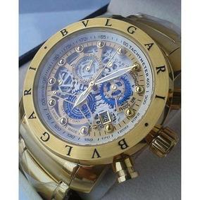 Relógio Bv Skeleton Serie Ouro Original