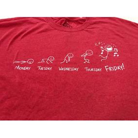 Camiseta Playera Roja Moderna Talla 5xl Y 4xl (tallas Extra)