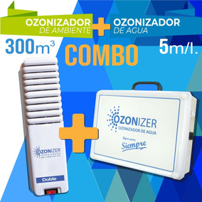 Promo Ozono: Ozonizador De Agua+ozonizador De Ambiente Doble