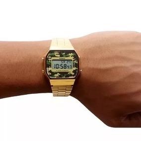 38ca421ee95 Relogio Casio Dourado Camuflado Vintage - Relógio Masculino no ...