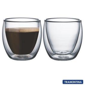 Conjunto De Xicaras Para Café Em Vidro 02 Peças Tramontina