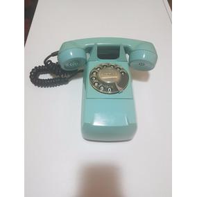 Telefone Antigo Gte, Azul,modelo Starlite Parede C/ Suporte,