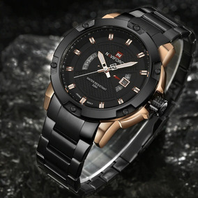 Relógio Top De Luxo Da Marca Homens De Aço Original