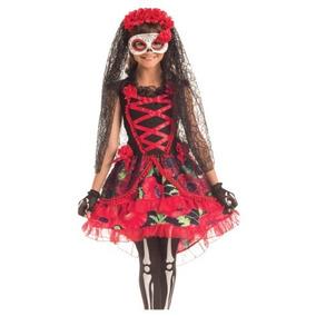 Disfraz Niña Catrina Traje Catrina Dia De Muertos Halloween 33ced0e7f05