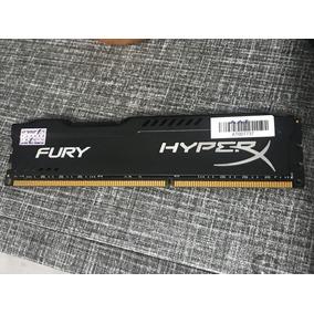 Memória 8gb Ddr3 1600mhz Kingston Hyperx Fury Black - Gamer