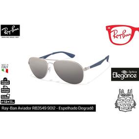 9ad0dfbb81874 Óculos Ray- Ban Aviador Rb3549 9012 - Espelhado Degradê