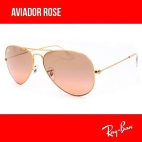 05f000cad3a92 Oculos Rayban Aviador Rose De Sol Ray Ban - Óculos no Mercado Livre ...