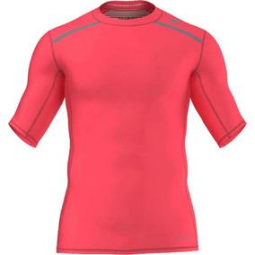 a4d8495573 Camisa Compressão adidas Techfit Chill Com Uv 50+