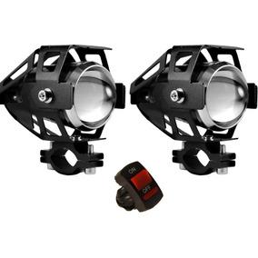 Par Farol Milha Universal Led U5 Auxiliar Moto 12v Tip Xenon