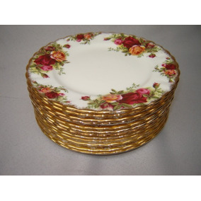 Pratos Royal Albert Old Country Roses Sobremesa 16 Cm.diam.