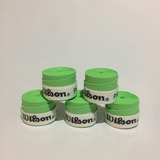 Kit 5 Overgrip Wilson Tênis, Badminton, Paddle Grip Verde