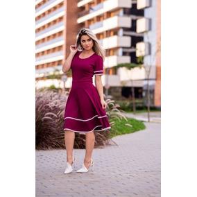 Vestido Moda Evangélica Rodado Em Crepe Instagram