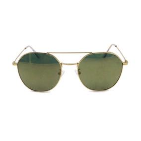66fb9e54ff Gafas De Sol Ac Unisex Pequeñas Redondas Verdes