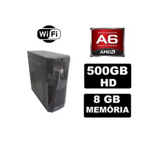 Cpu Gamer Barata Amd A6 7400k 8gb 500gb Radeon 2gb Fonte 350