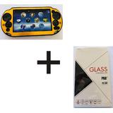 Kit Case Plástico Con Aluminio Mas Cristal Ps Vita 2000