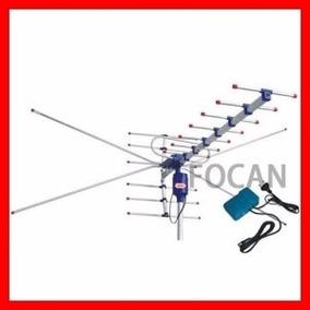 Super Antena Externa Vhf,uhf,com Sistema De Controle Remoto