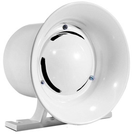 Sirene Branca Compacta Alarme Alta Potência 120db 12v