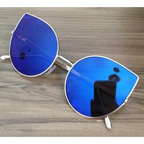 5f3d325085a59 Oculos Espelhado Feminino Redondo Grande - Óculos no Mercado Livre ...