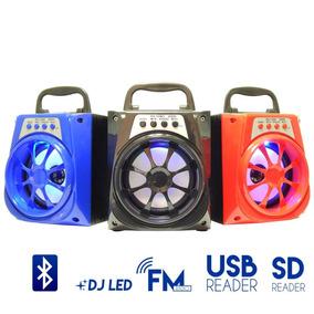 Caixa De Som Mini 8w Fm Aux Bluetooth Sd Amplificada