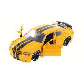 Miniatura Dodge Charger Srt8 2006 1:24 Amarelo Jada Toys