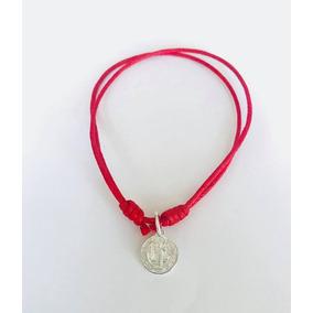Lote De 3 Pulseras De San Benito Con Medalla De Plata