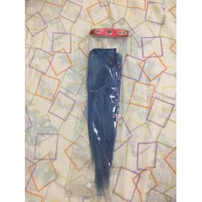Extensiones De Cabello Natural Color Azul Con Vinchas