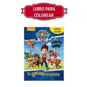 Paw Patrol Patrulla De Cachorros Libro Colorear Tamaño Carta
